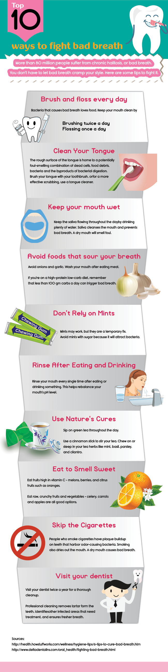 Top 10 ways to fight bad breath